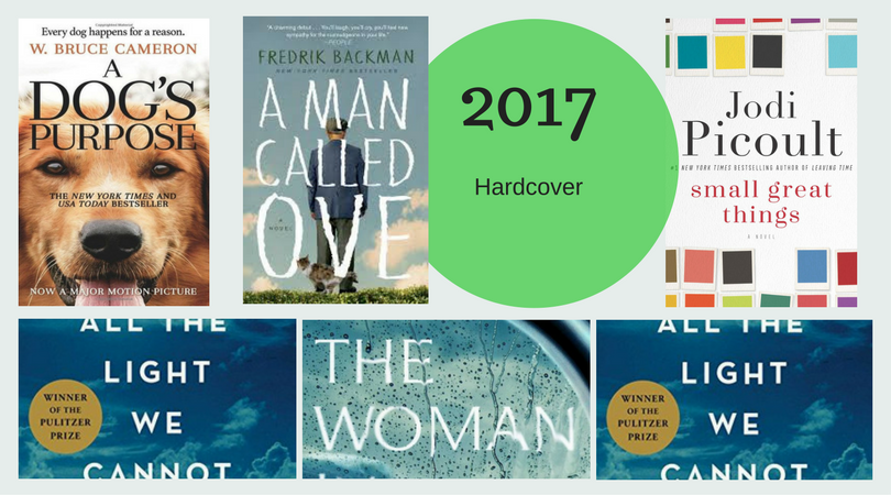 Blog -Best of the Bestsellers - 2017 Hardcover Books