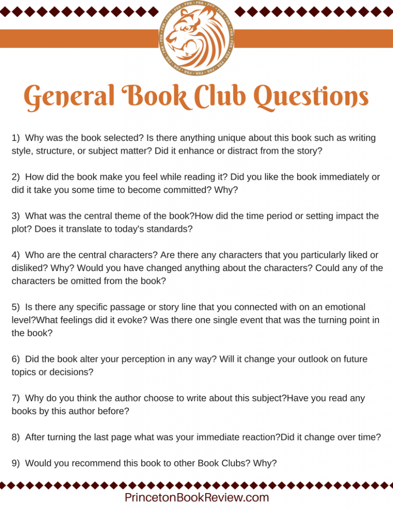 General Book Club Questions