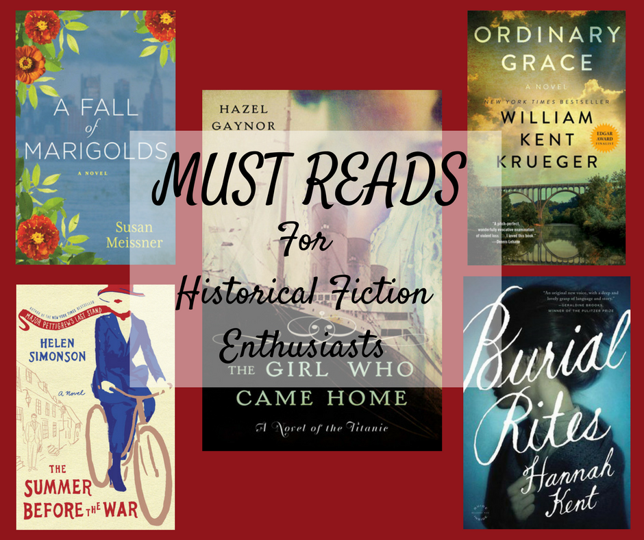 Must read books for Historical Fiction lovers and book clubs.
