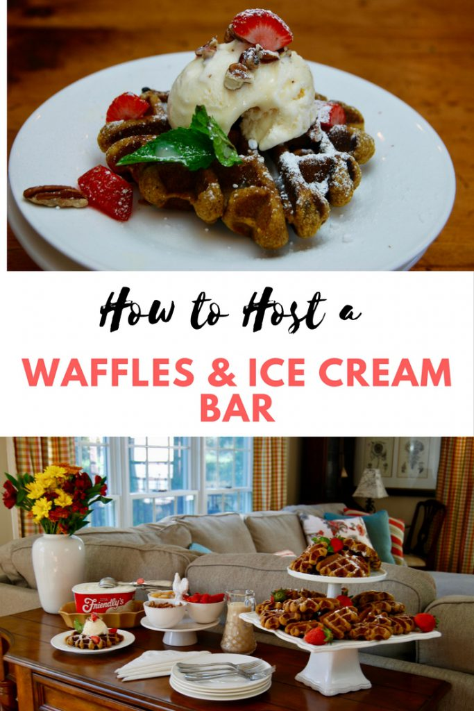 Waffles and Ice Cream Bar