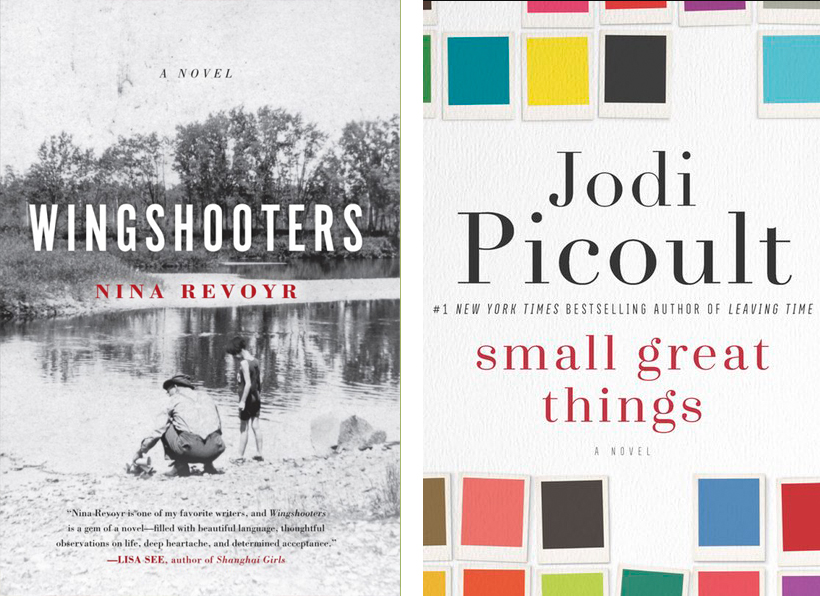 Book Club books - Wingshooters, by Nina Revoyr, Small Great Things by Jodi Picot